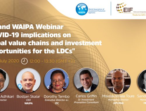 "EIF and WAIPA Webinar: ""COVID-19 implications on global value chains and investment opportunities for the LDCs"""