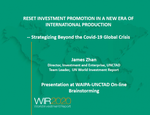 WAIPA-UNCTAD Online Discussion: Reset Investment Promotion in a New Era of International  Production